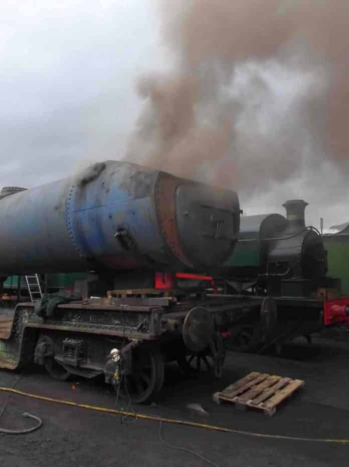 60007 Sir Nigel Gresley steam test
