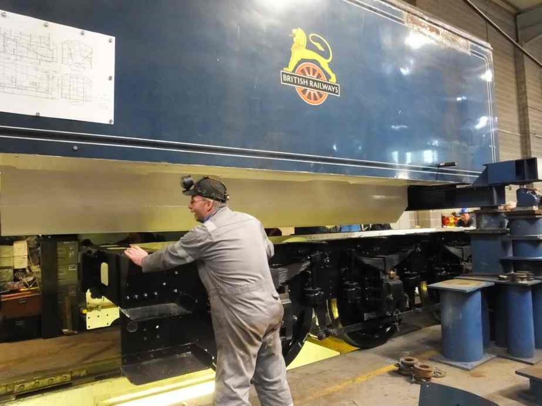 Tender Tank Lifted // Credit The Sir Nigel Gresley Locomotive Trust Ltd
