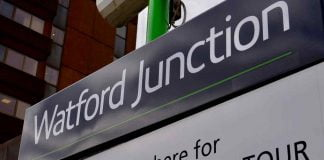 Watford Junction station sign Warner Bros Studio Tour
