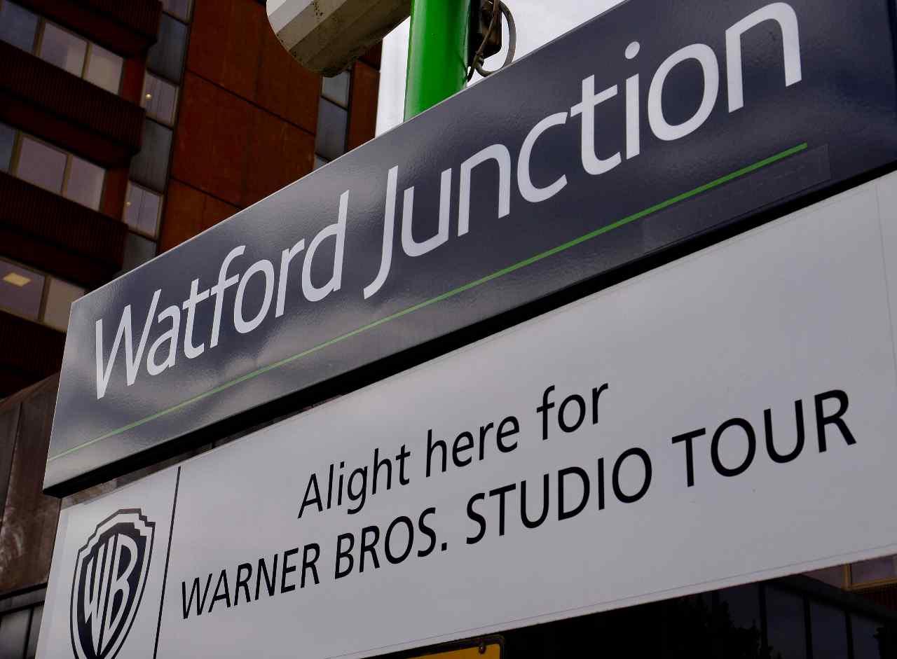 Watford Junction station sign Warner Bros Studio Tour