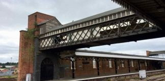 Worcester Shrub Hill Luggage Bridge