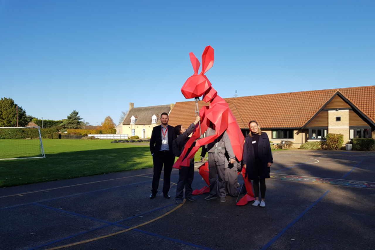 Hare school visit
