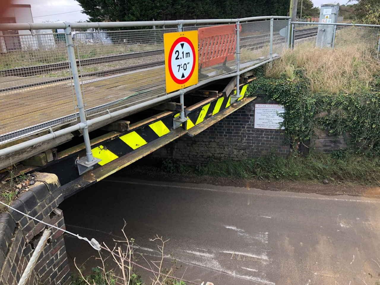 Stonea bridge strike repairs