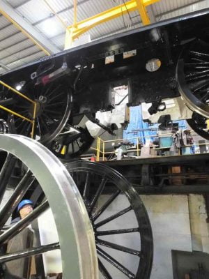 Refitting Centre Coupled Wheelset // Credit The Sir Nigel Gresley Locomotive Trust Ltd