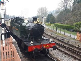 GWR Small Prairie 5526 set for Battlefield Line visit