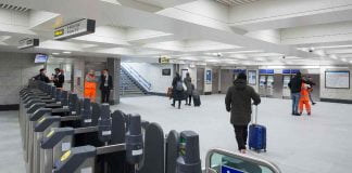 The new, enlarged ticket hall at Victoria Underground station