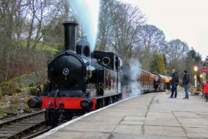 1054 & 85 at Oxenhope on the Keighley and Worth Valley Railway