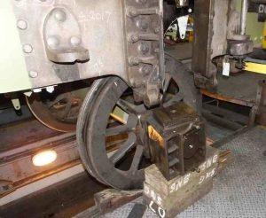 Cartazzi trailing truck Credit // The Sir Nigel Gresley Locomotive Trust Ltd