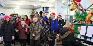 School children sing Christmas Carols at Horsham