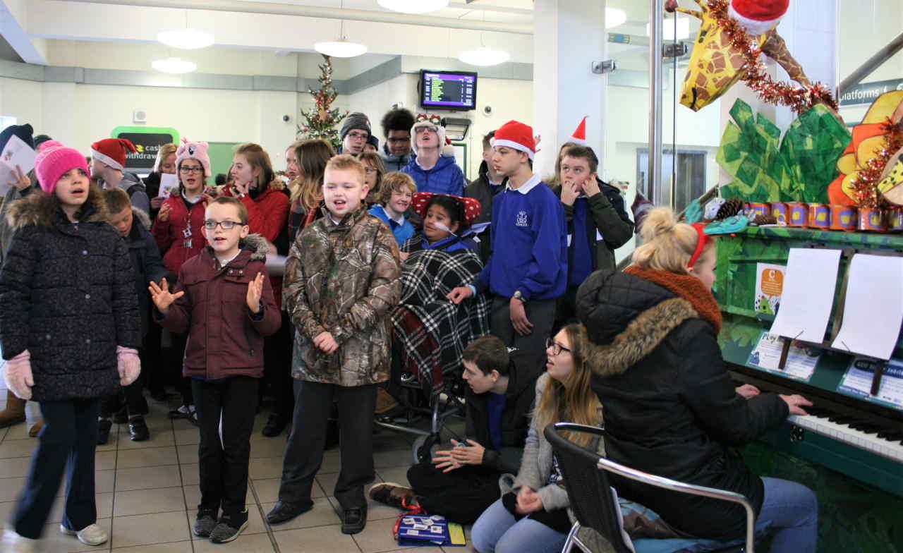 School children sing Christmas Carols at Horsham