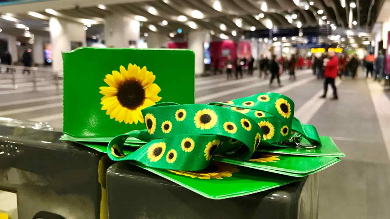 Sunflowers lanyards for passnegers with hidden disabilities
