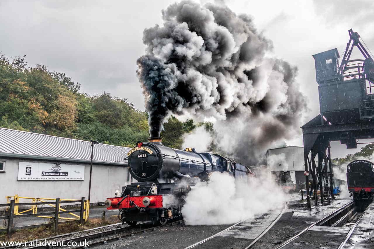6023 King Edward II departing Grosmont