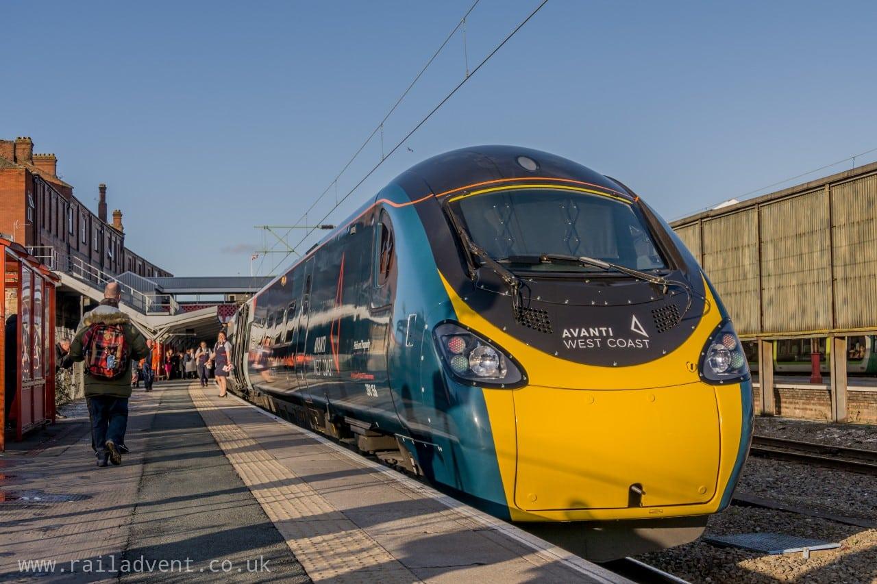 Class 390 at Crewe