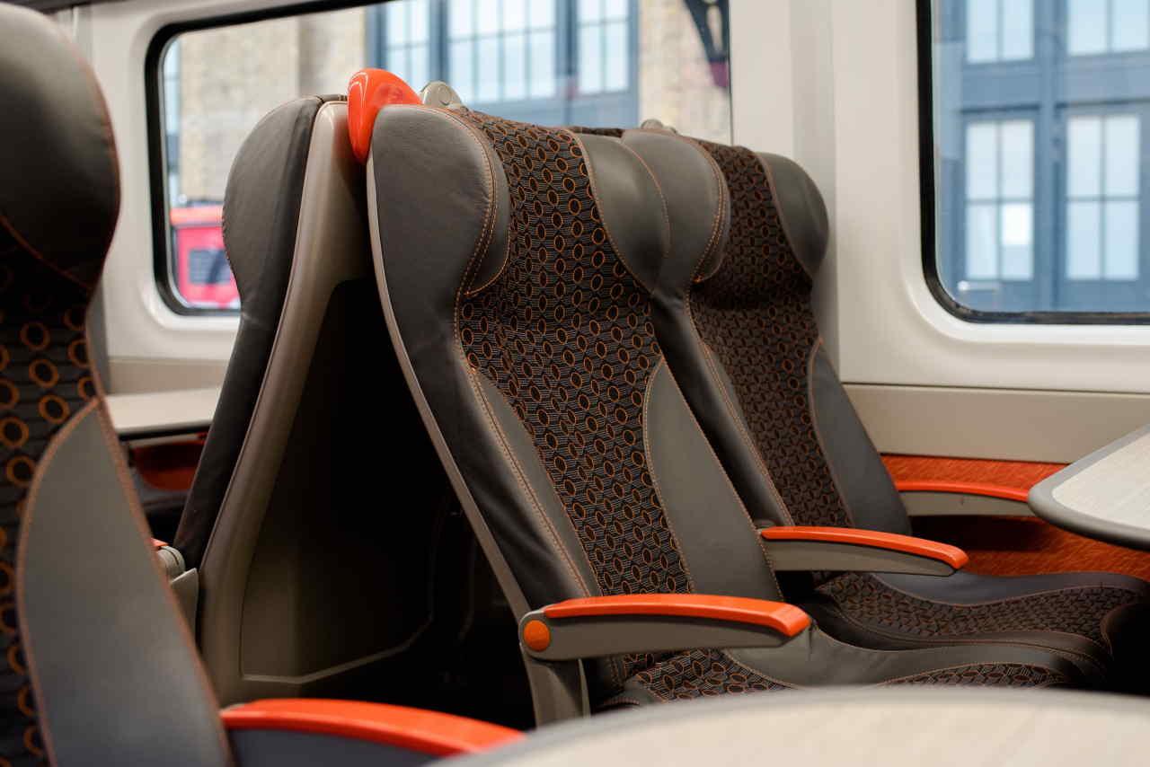 Standard Class interior Grand Central Adelante train refurbishment