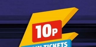 10p Northern train tickets sale