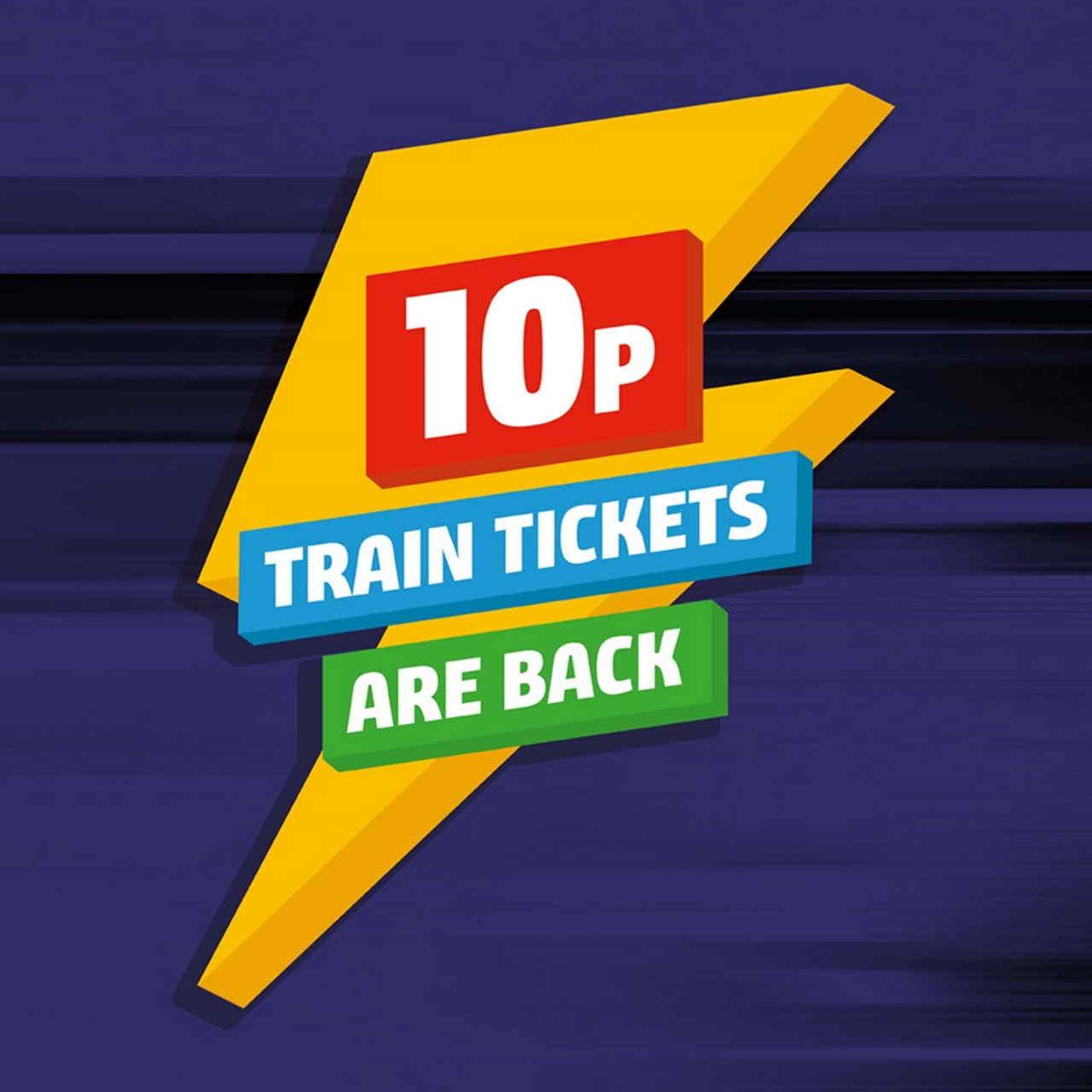 10p Northern train tickets sale