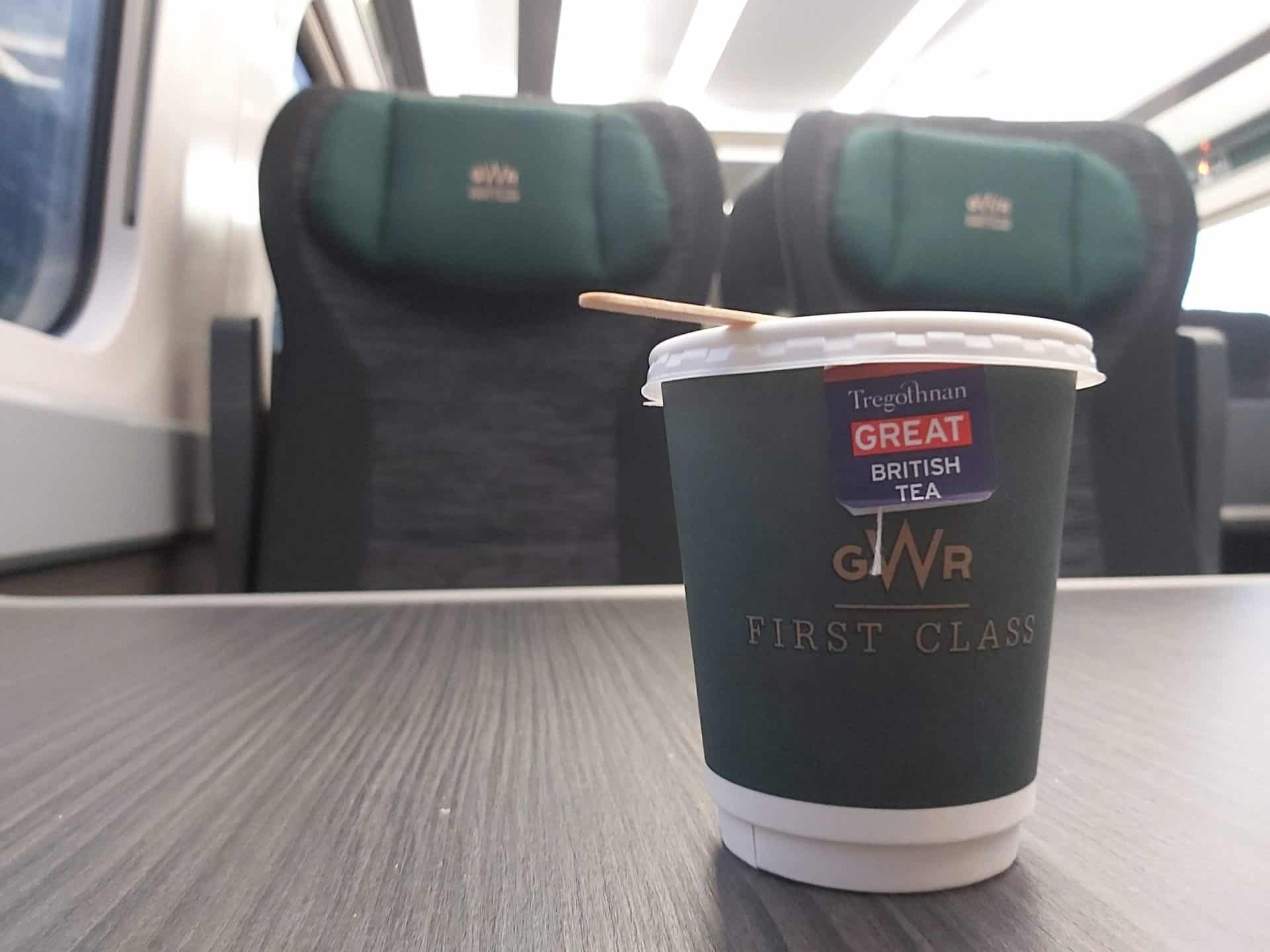 First class on a Great Western Railway IET