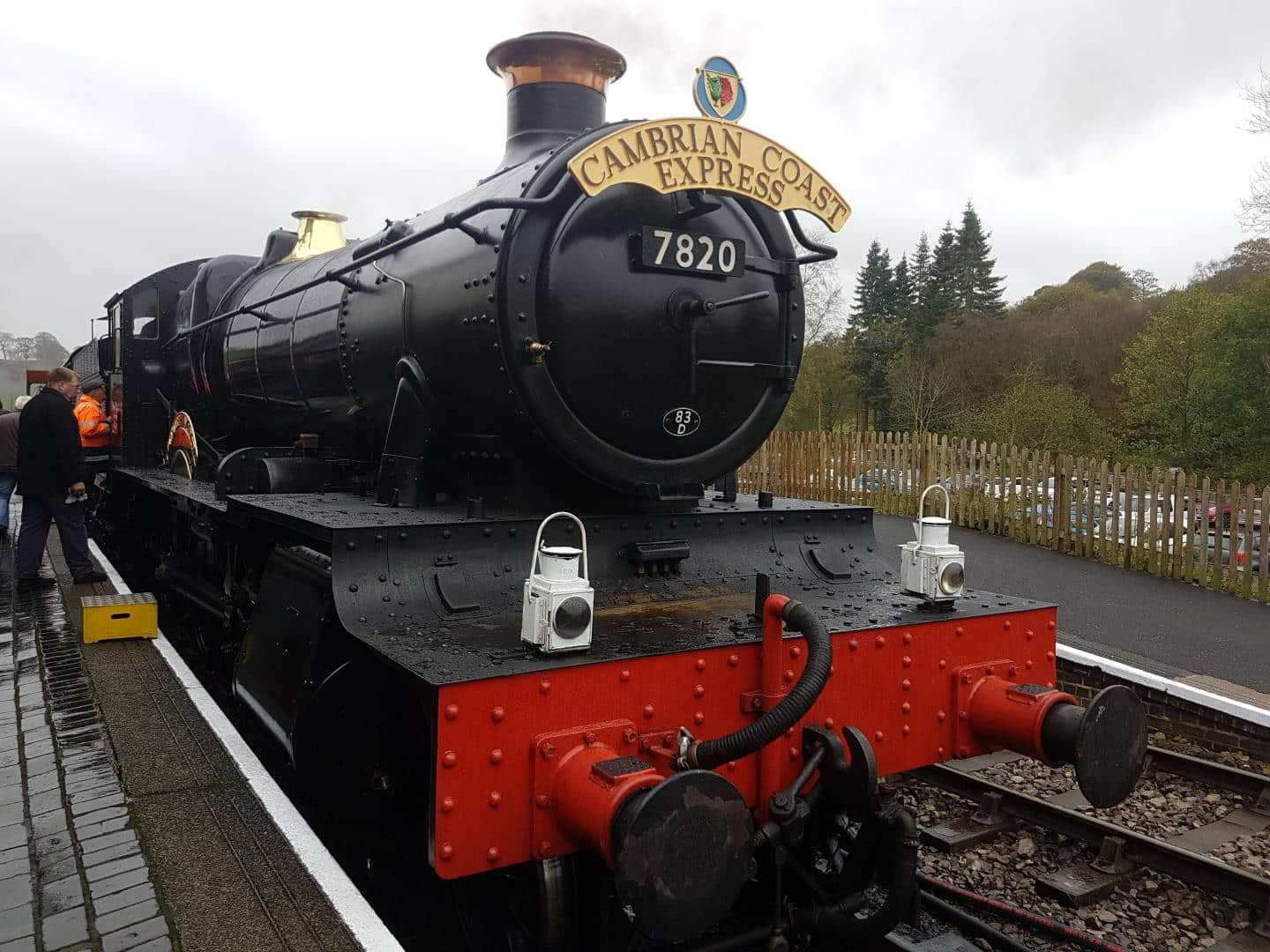 "7820 ""Dinmore Manor"" at Cheddleton Station, Churnet Valley Railway // Credit Jamie Duggan, Railadvent"