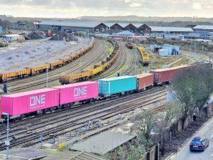 Eastleigh freight train derailment