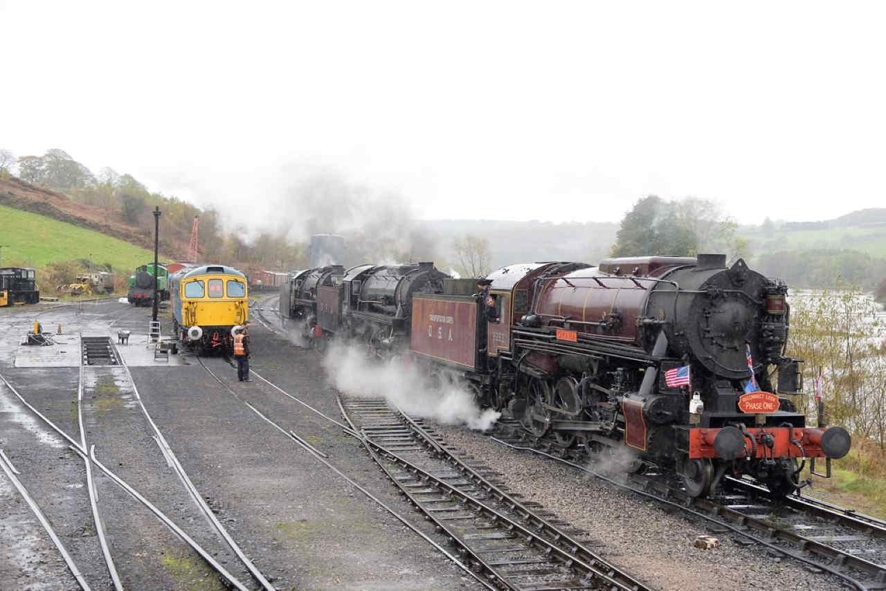 Churnet Valley Railway with three S160s