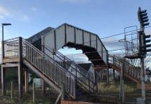 Barassie railway Station Footbridge