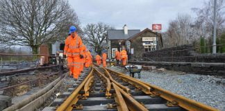 Ffestiniog Railway use milk bottles in new railway sleepers
