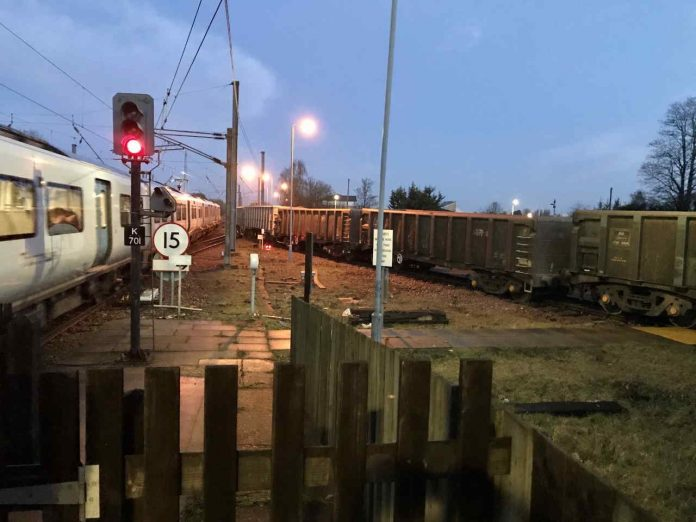 Train derails at Hitchin