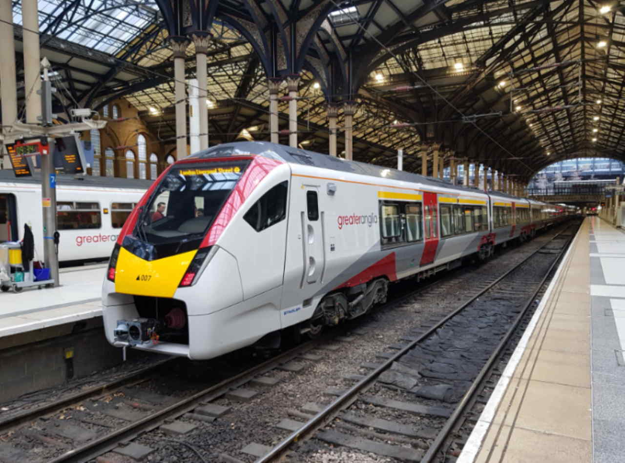 New greater anglia train at London