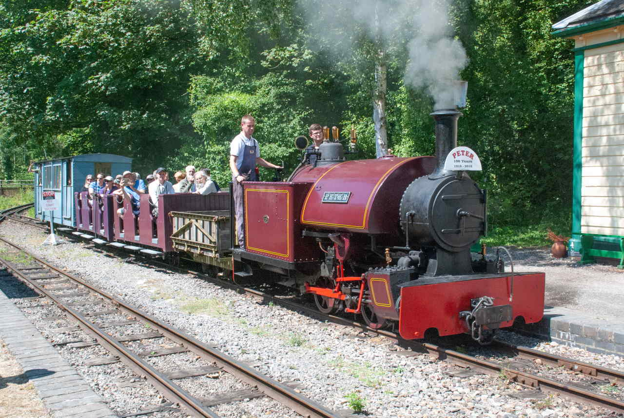 """Bagnall 0-4-0ST 2067/1918 """"Peter"""" Cliffe Hill Quarry Co, Leicestershire. Rail Gala, Amberley Museum and Heritage Centre, 15th July 2018.© Pete Edgeler"""