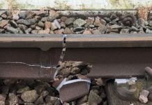 Track damage on the Barking line