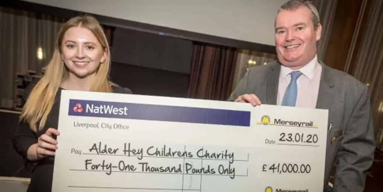 merseyrail raises money for charity