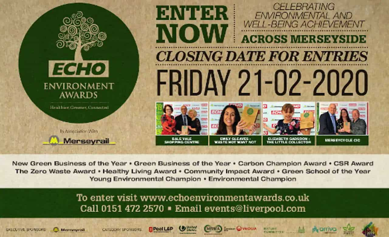Merseyrail to sponsor Liverpool Echo Environment Awards