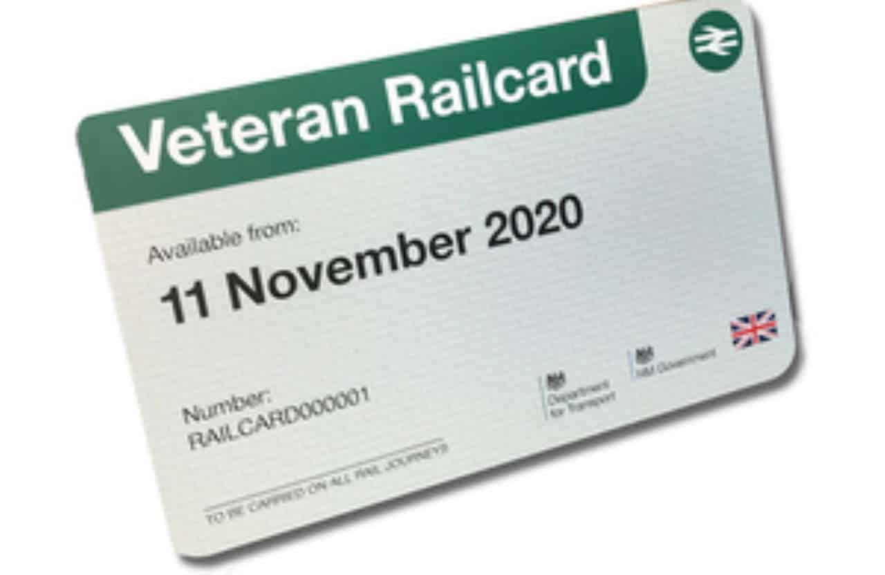 Military veterans railcard