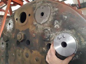 2320's Boiler Backhead and Gauge Frame Boss // Credit HBSS