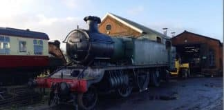 4110 arrives at Cranmore on the East Somerset Railway