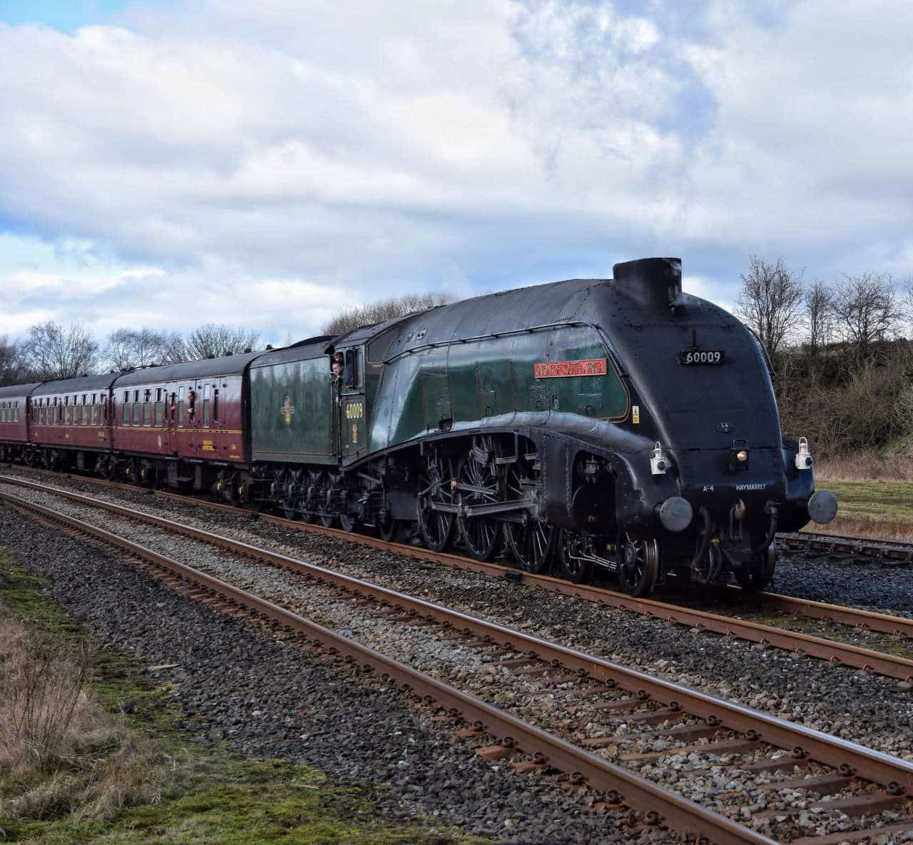60009 Union of South Africa approaching Hellifield