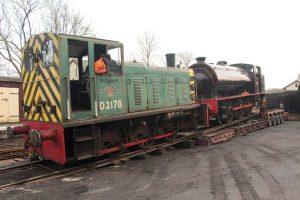 Welsh Guardsman leaves the Gwili Steam Railway