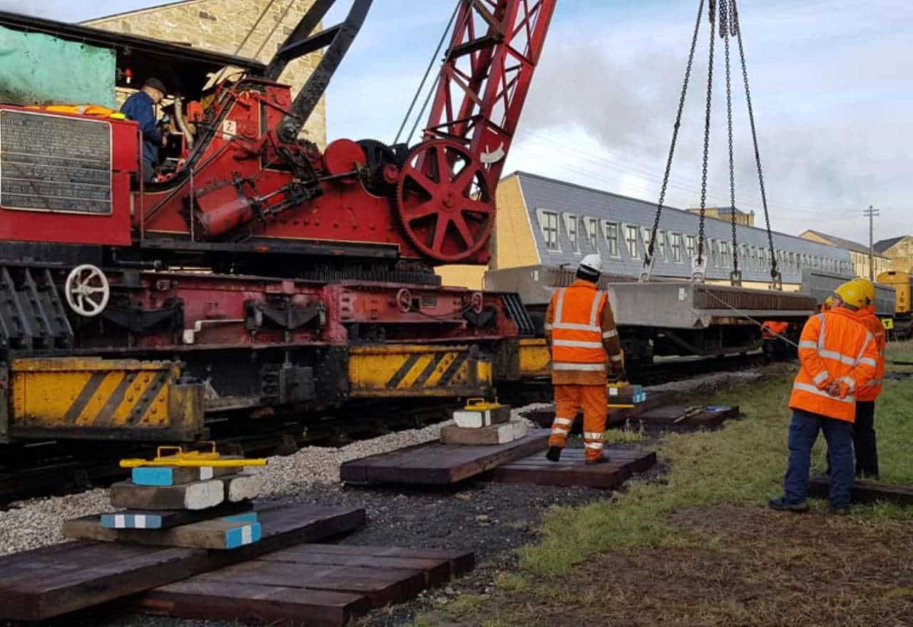Ingrow West bridge replacement arrives AT KEIGHLEY AND WORTH VALLEY RAILWAY