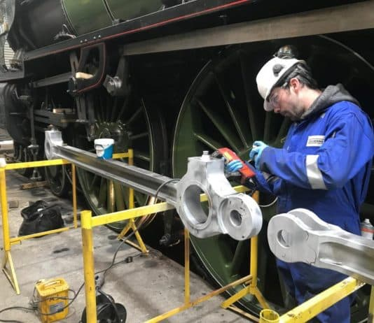 MPI tests on Motion parts // Credit The A1 Steam Locomotive Trust