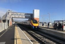 New platform at Market Harborough