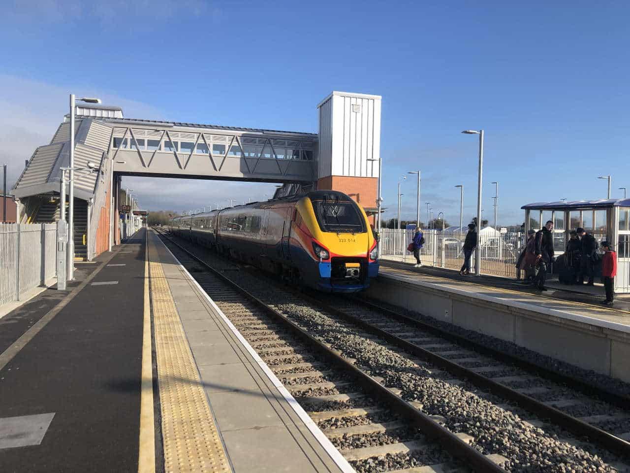 New platform at Market Harborough