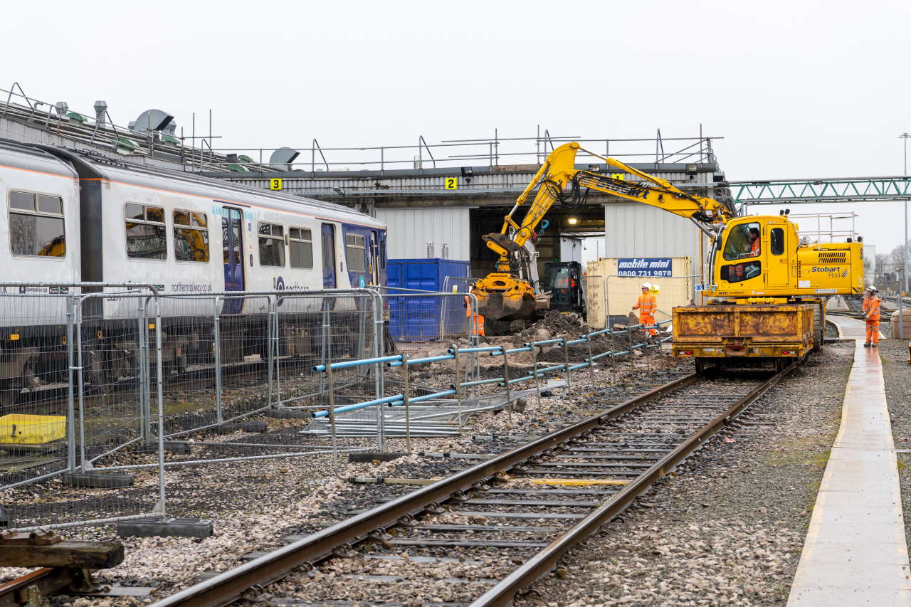 Newton Heath train depot in Manchester upgrade work nearing completion