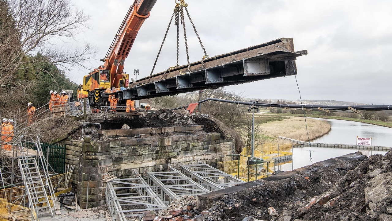 Oswaldtwistle bridge replaced