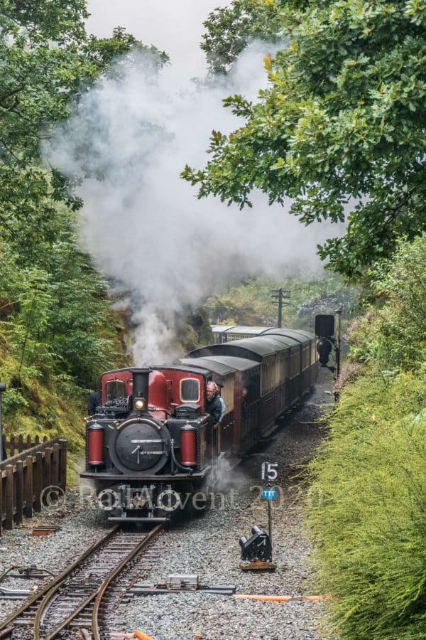 David Lloyd George arrives at Tanybwlch on the Ffestiniog Railway