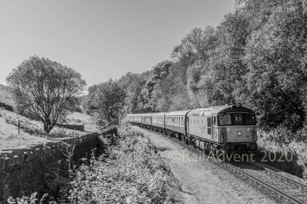 33109 Captain Bill Smith approaching Irwell Vale on the East Lancashire Railway