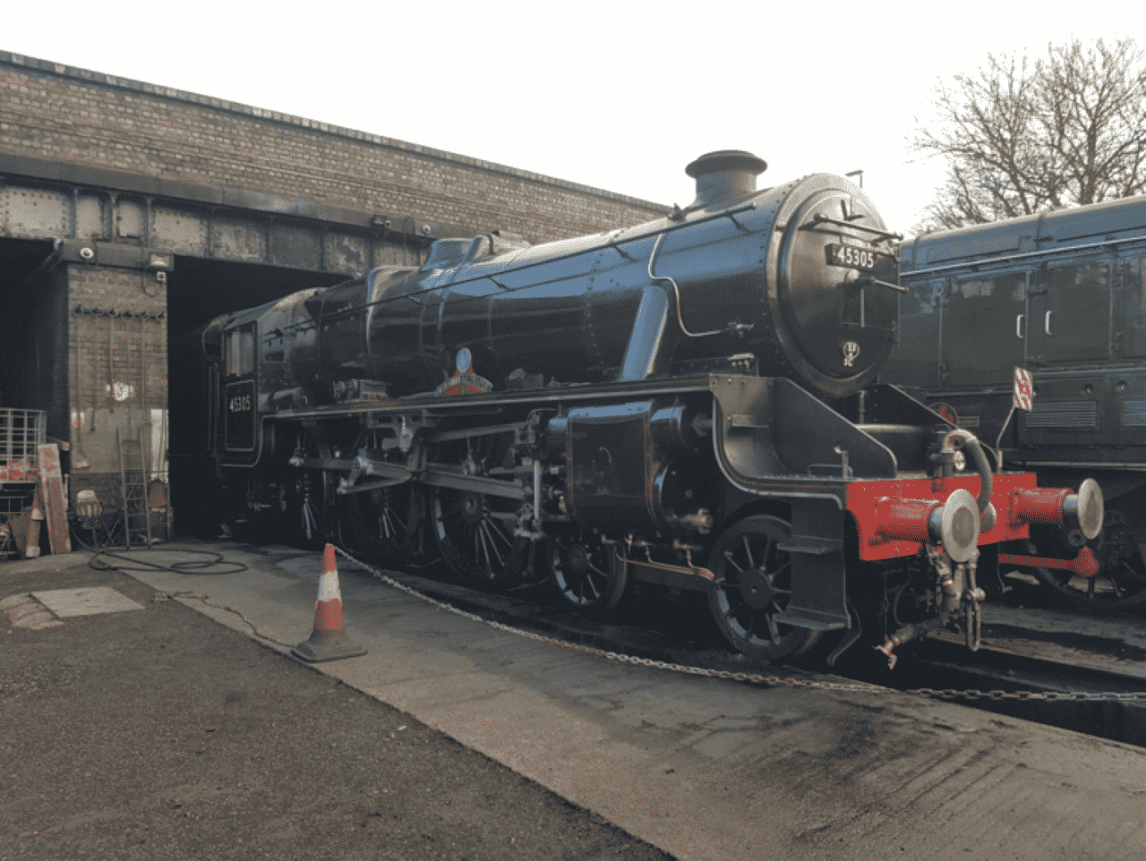 45305 Alderman E Draper at Loughborough sheds on the Great Central Railway
