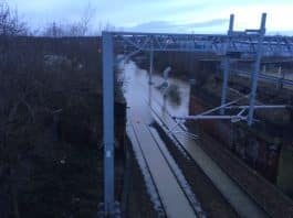 Rail passengers in South Yorkshire urged to check before travelling tomorrow as severe flooding closes railway line in Rotherham