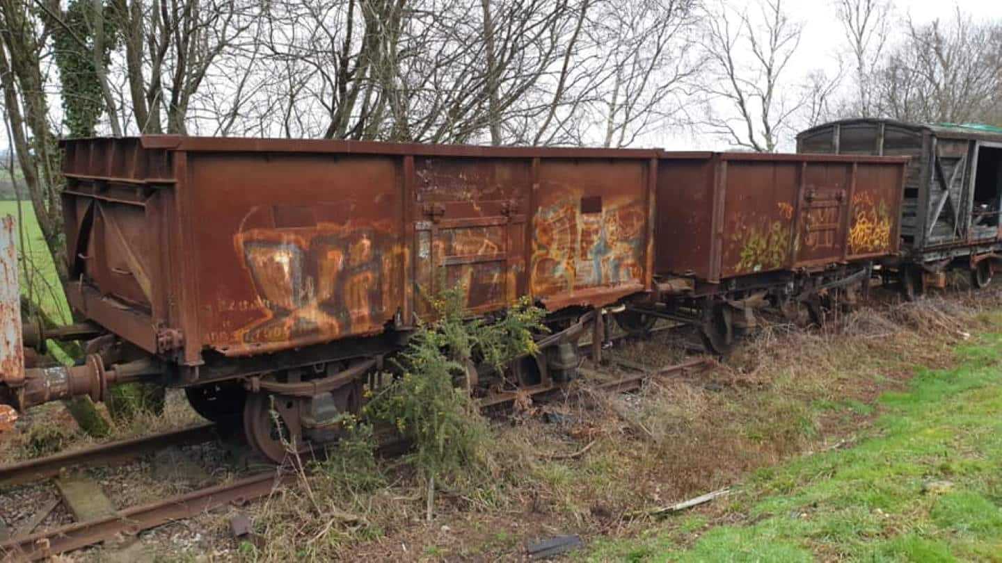 Somerset and Dorset Railway Trust's new BR Mineral Wagons // Credit S&DRT