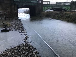 Trains resume after flooding at kirkstall