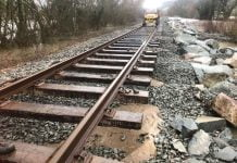 conwy valley railway line storms damage wales